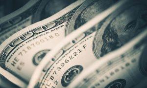 Plexiglas schilderij - American Dollars Cash Money