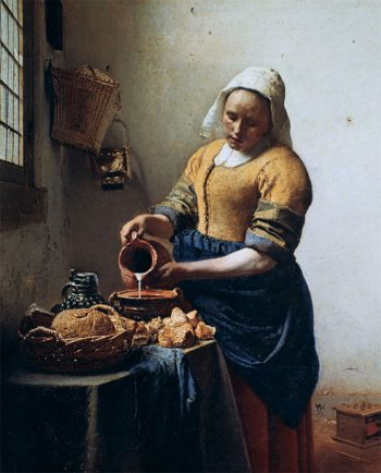 The Milkmaid, by Johannes Vermeer