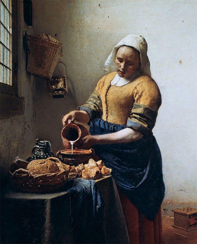 The Milkmaid, by Johannes Vermeer