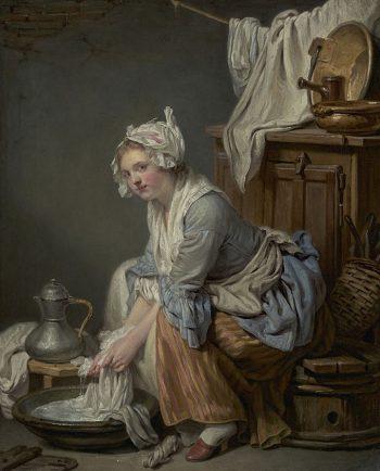 The Laundress van de Franse schilder Jean-Baptiste Greuze uit 1761