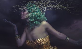 Dream, Deity, beautiful woman with green hair