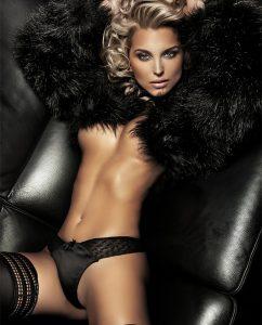 Sexy girl wearing fur