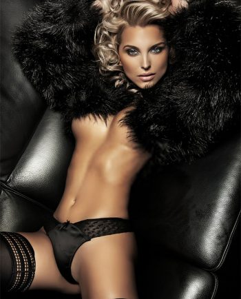 Sexy girl wearing fur