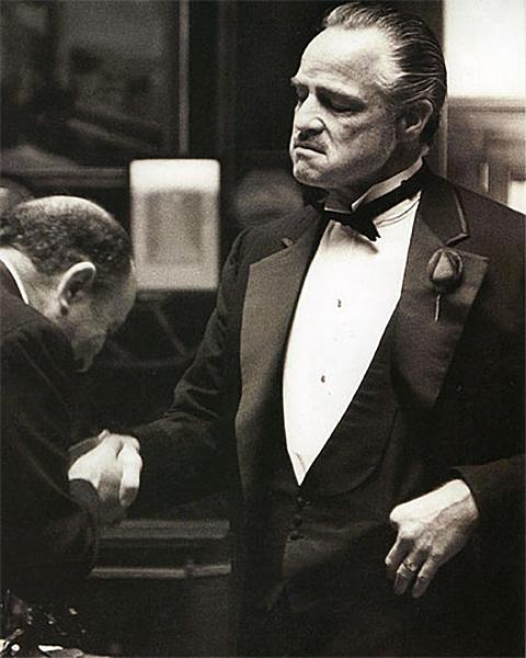 Plexiglas schilderij - Marlon Brando – The Godfather 1972