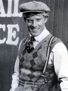 Robert Redford uit de film The Sting