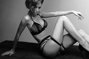 Very beautiful girl in lingerie