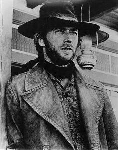 Plexiglas schilderij - Clint Eastwood 1973