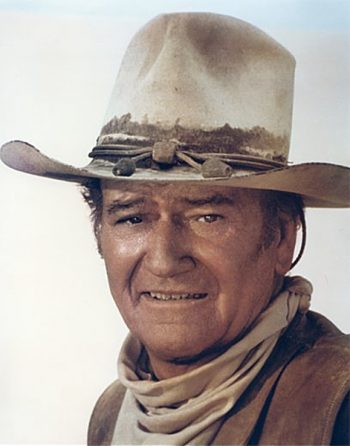Plexiglas schilderij - John Wayne aka the duke – The Cowboys 1972