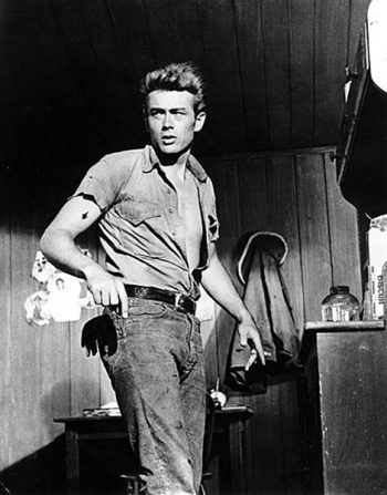 James Dean uit de film Giant