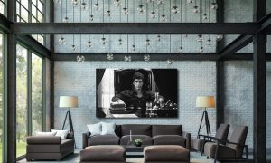 Plexiglas schilderij - Al Pacino as Tony Montana – Scarface 1983