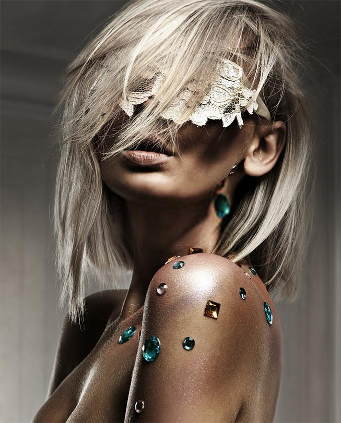 Plexiglas schilderij - Portrait of a beautiful blond lady
