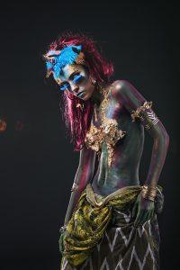 body art in an unusual fantasy style