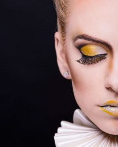 gorgeous model female shoot in studio with amazing make-up