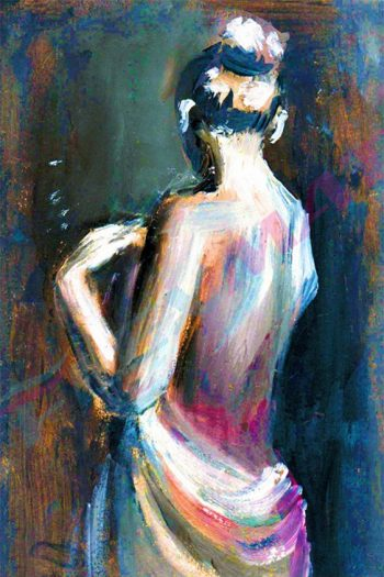 Expressive oil painting