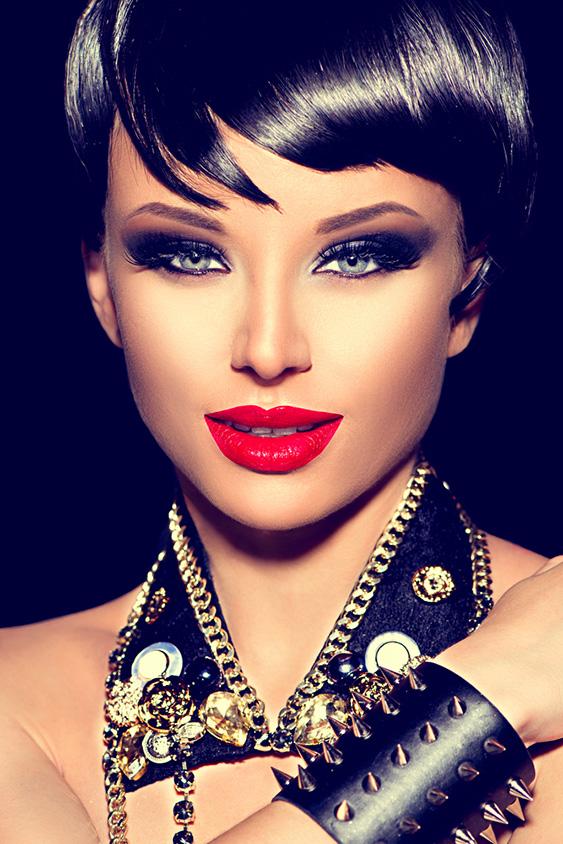 Beauty Punk Fashion Model Girl