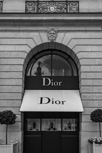 Dior shop in place Vendome in Paris, France