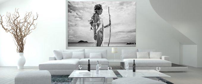 boho woman at beach