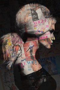 Vogue model collage
