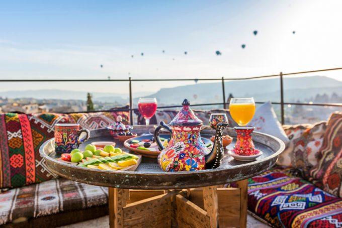 breakfast with Cappadocia view