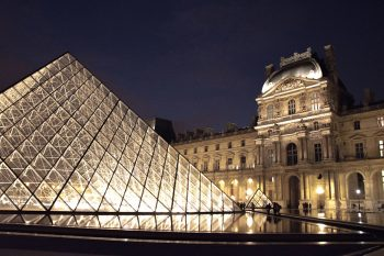 Louvre Pyramid night view