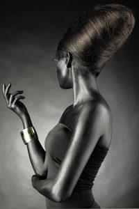 beautiful woman with black skin