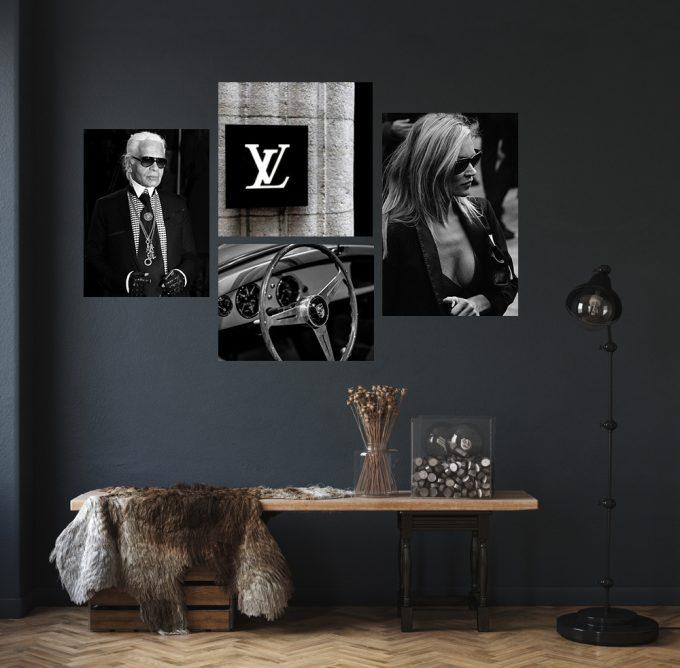 Kate Moss, Karl Lagerfeld, Louis Vuitton en Porsche