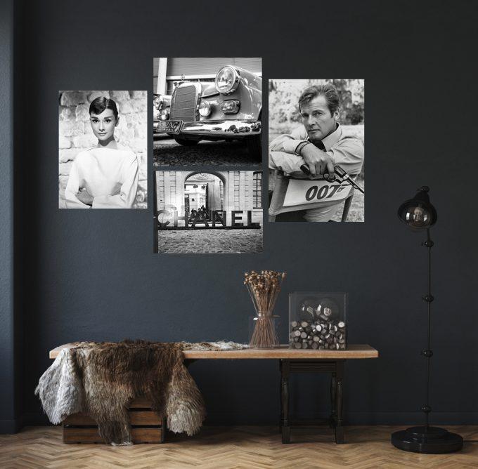 Roger Moore, Audrey Hepburn, Chanel en classic mercedes