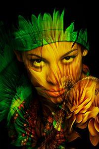young black woman fantasy portrait