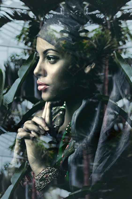 young woman fantasy portrait