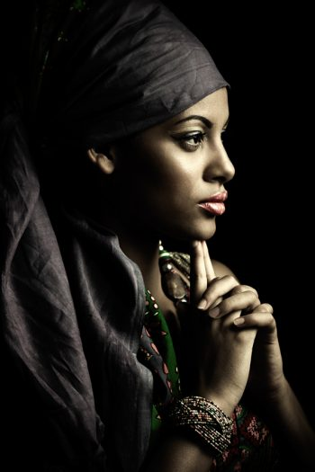 woman beauty portrait with turban