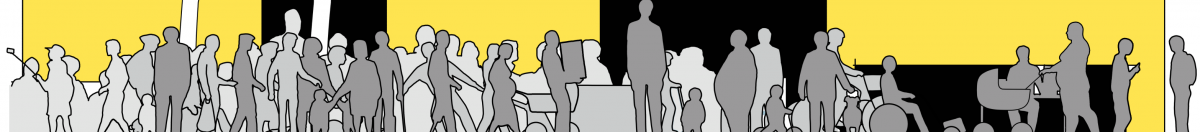 Profiler af alle brugere i sort og gul streg