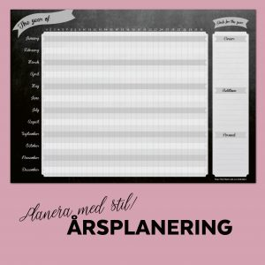 yearly plan, årsplanering