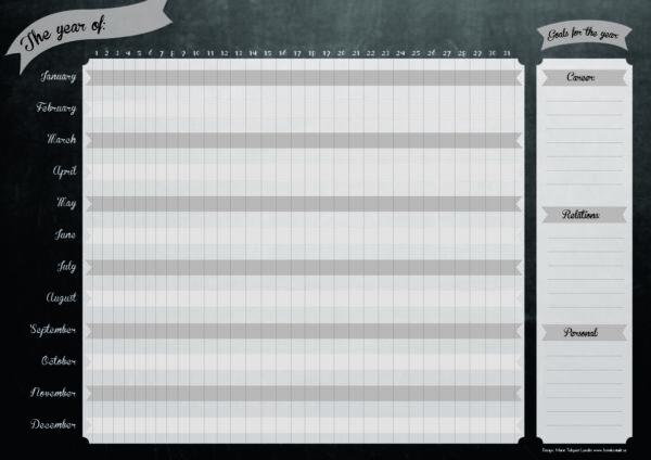 yearly plan, bullet journal, årsplanering
