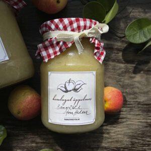 Äppelmosetikett, etiketter till äppelmos, hemmagjort äppelmos
