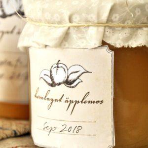 Äppelmos-etiketter, etiketter att skriva ut