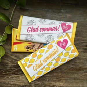 chokladomslag, present till lärare, gå-bort-present, glad sommar, choklad till en vän
