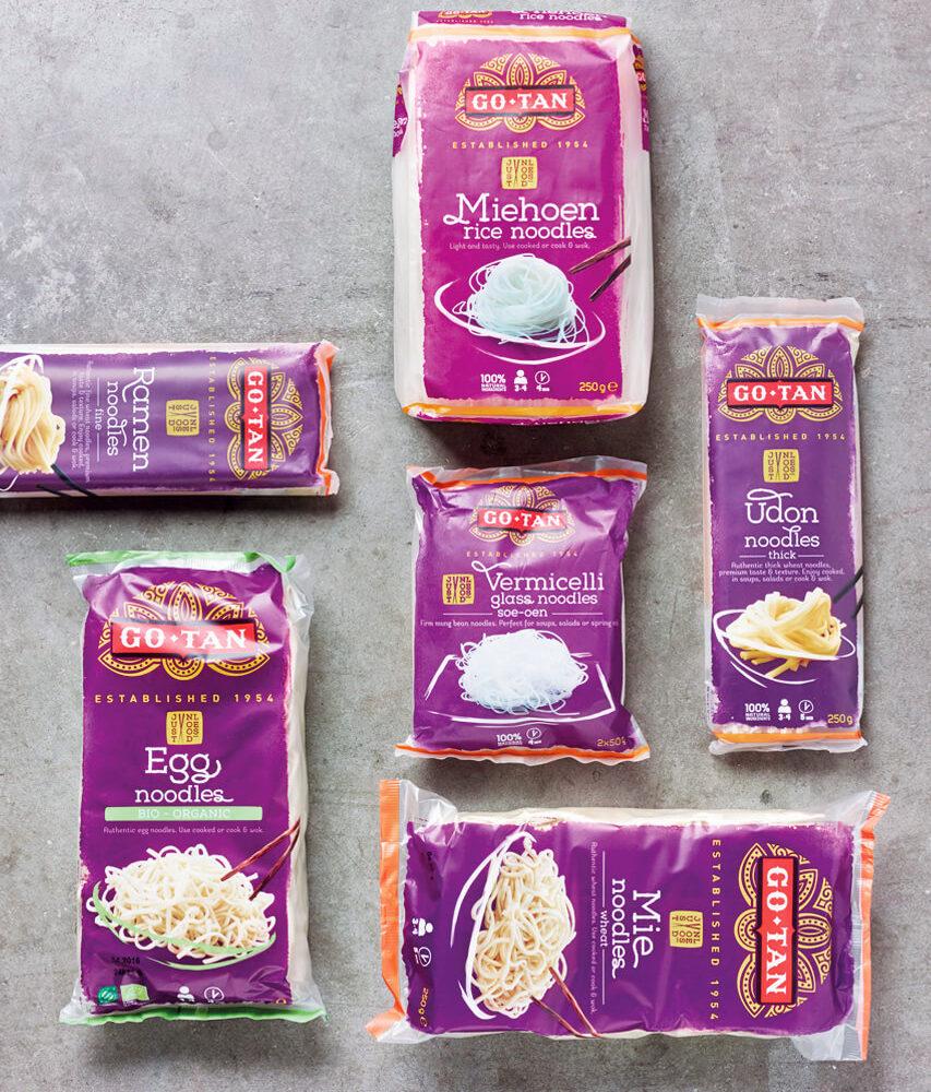 GO-TAN Indonesian food, a very 'food' loving family Branding & Packaging Design by DesignRepublic Belgium