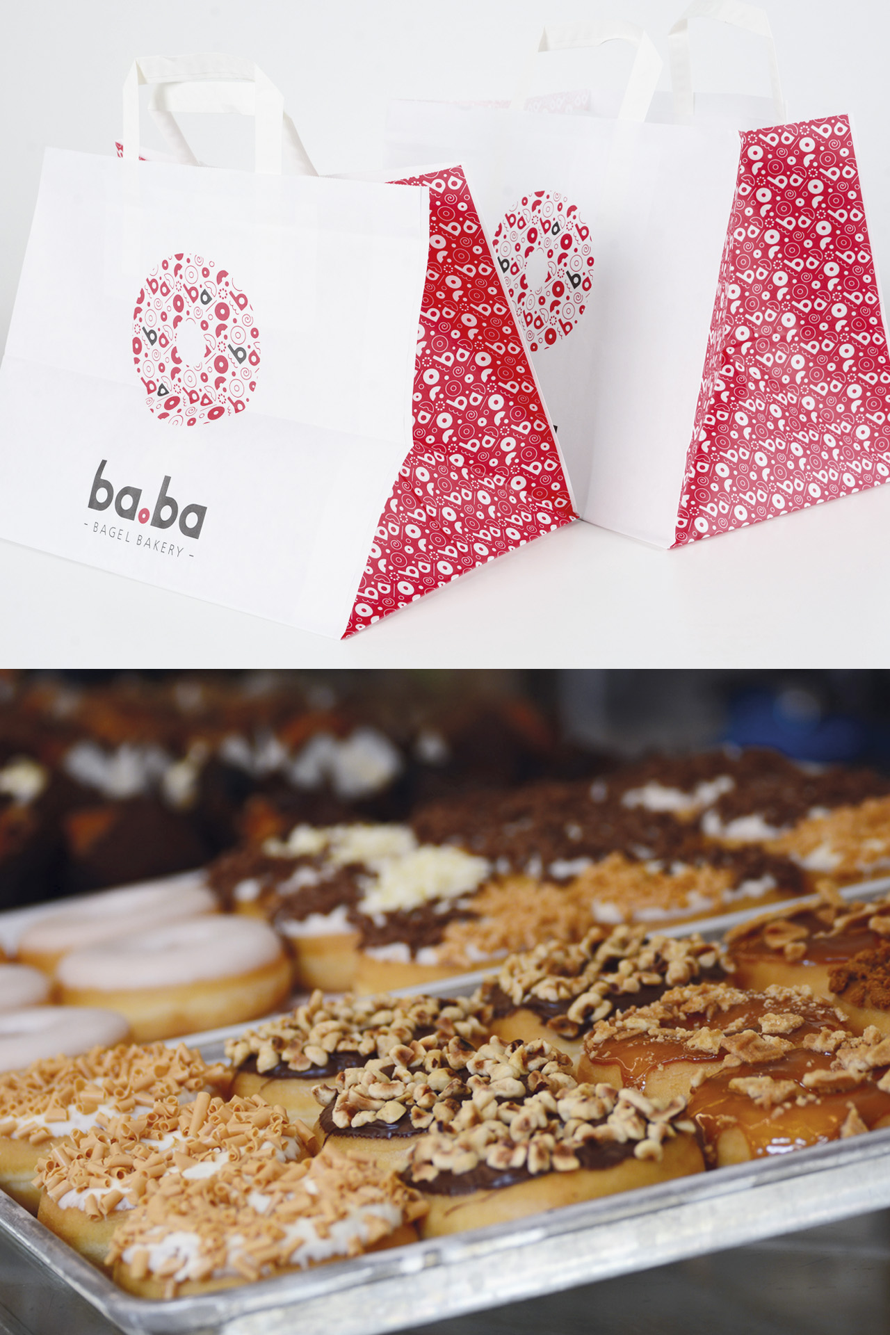 Ba.Ba bagel bakery, branding, graphics design, corporate identity by DesignRepublic branding & packaging design Belgium