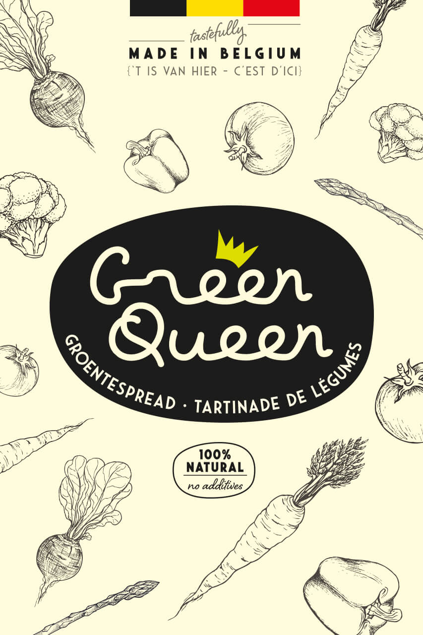Illustrations for Green Queen by DesignRepublic Brussels
