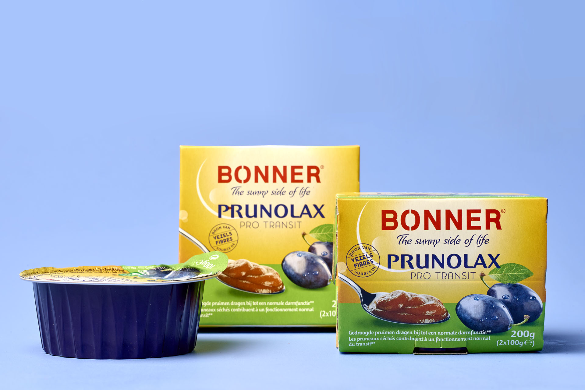 Bonner prunolax brand relift by DesignRepublic, branding and packaging design agency Belgium