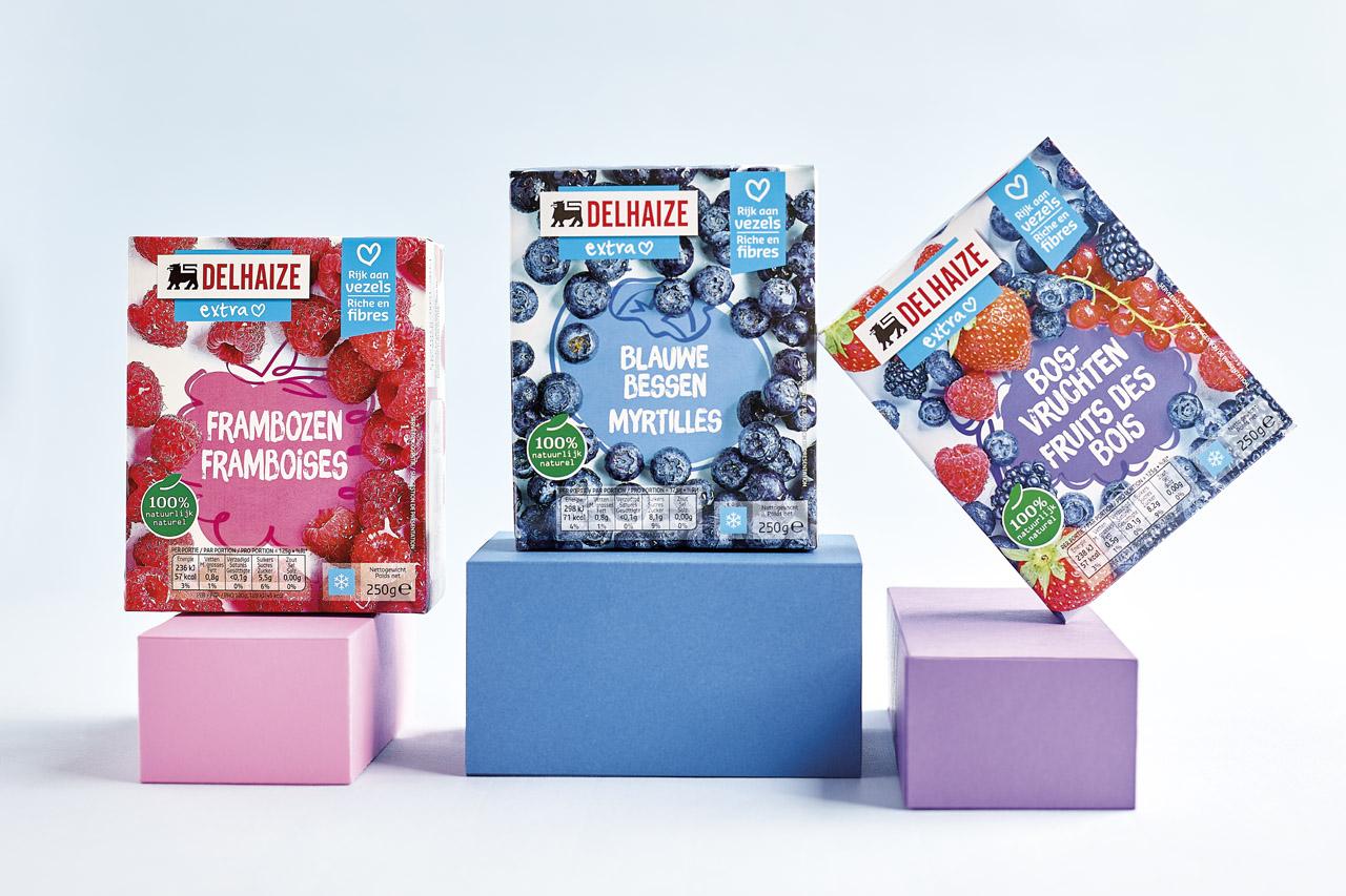 packaging frozen fruits Delhaize