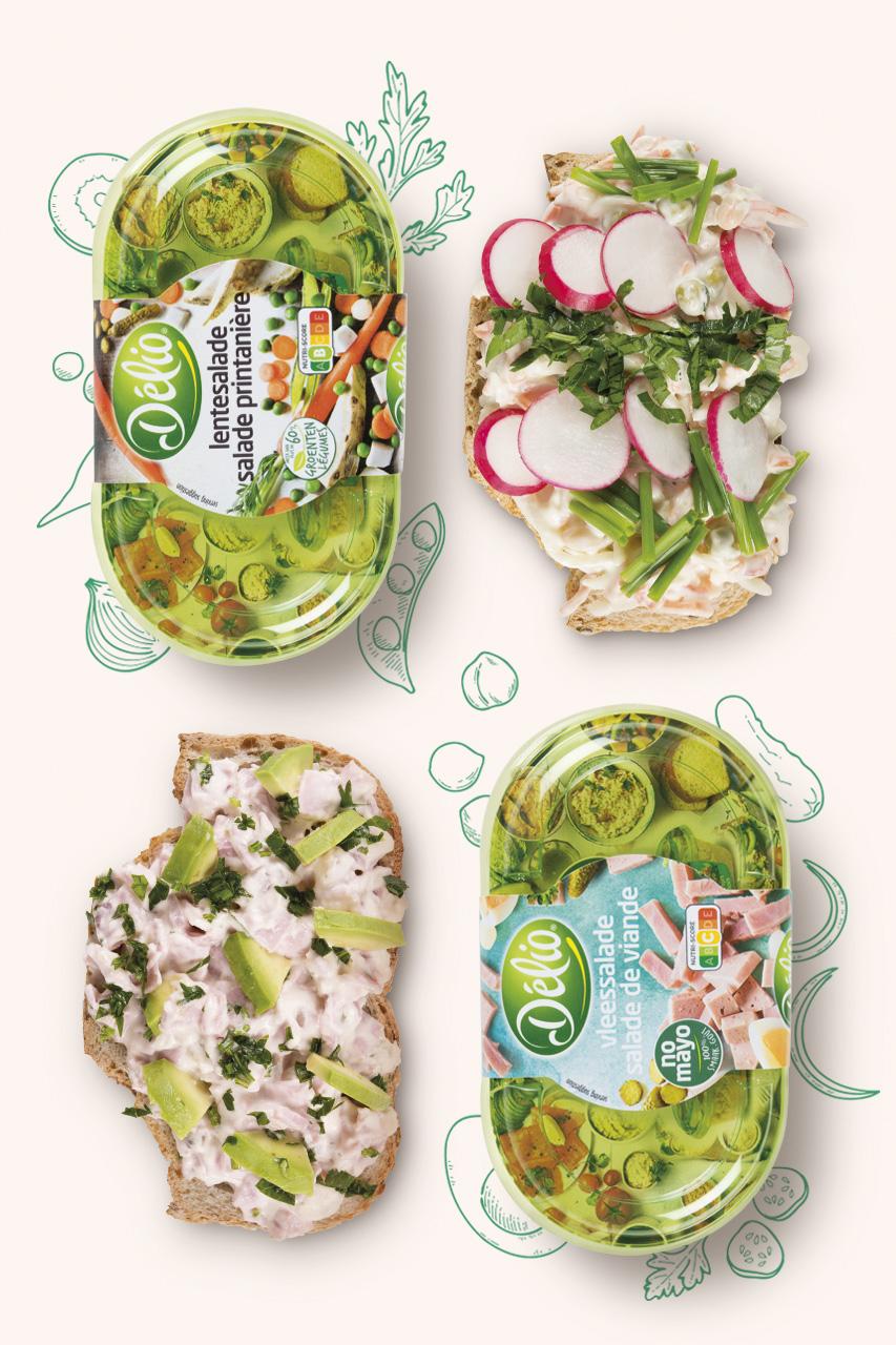 Delio vleessalade - lentesalade