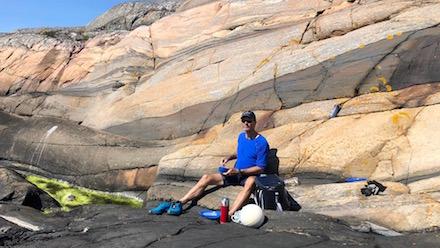 Vackra klippor på Vindö