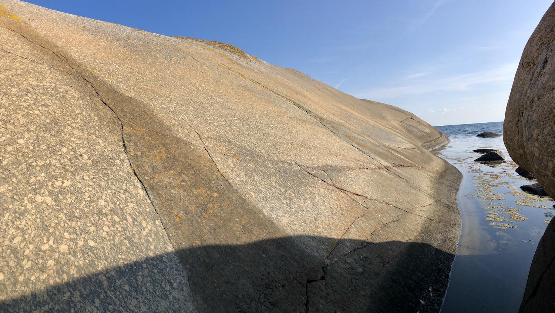 släta klippor på Vindö