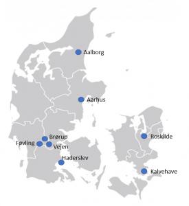 Danmarks kort med Det Gode Livs lokationer - Det Gode Liv Forside Vi vil være Danmarks førende behandlingscenter - misbrugscenter Landsdækkende Ambulant – & Døgnbehandling For Misbrugsramte misbrugscenter ambulantbehandling afhængighed behandling