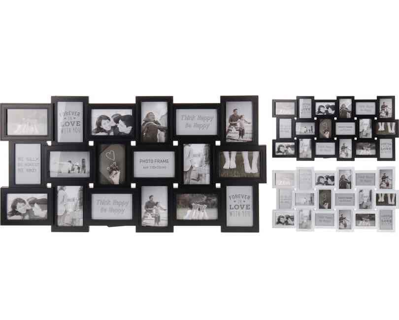 Fotoramme for 18 billeder, rektangulær