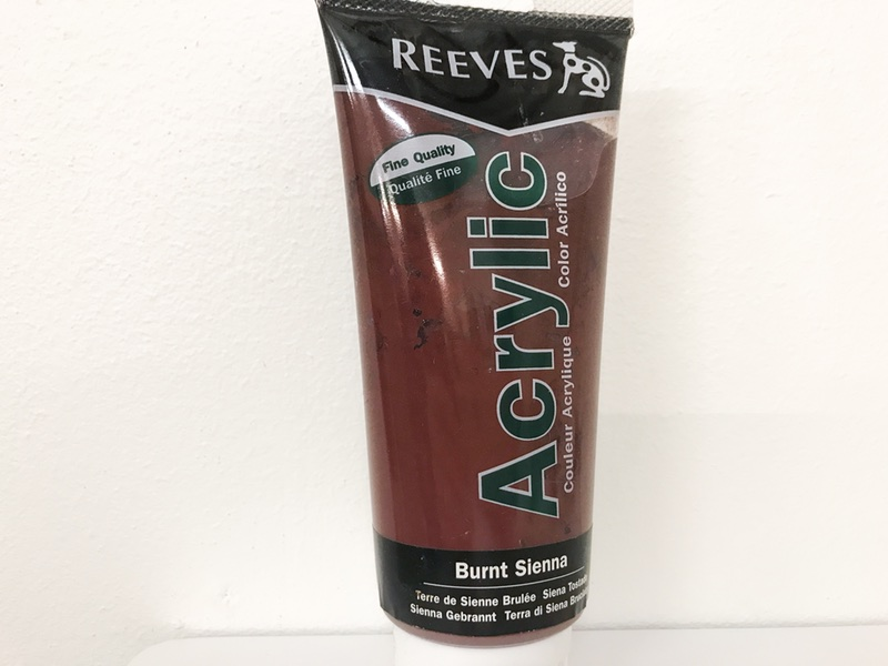 Reeves Acrylic maling Brændt sienna