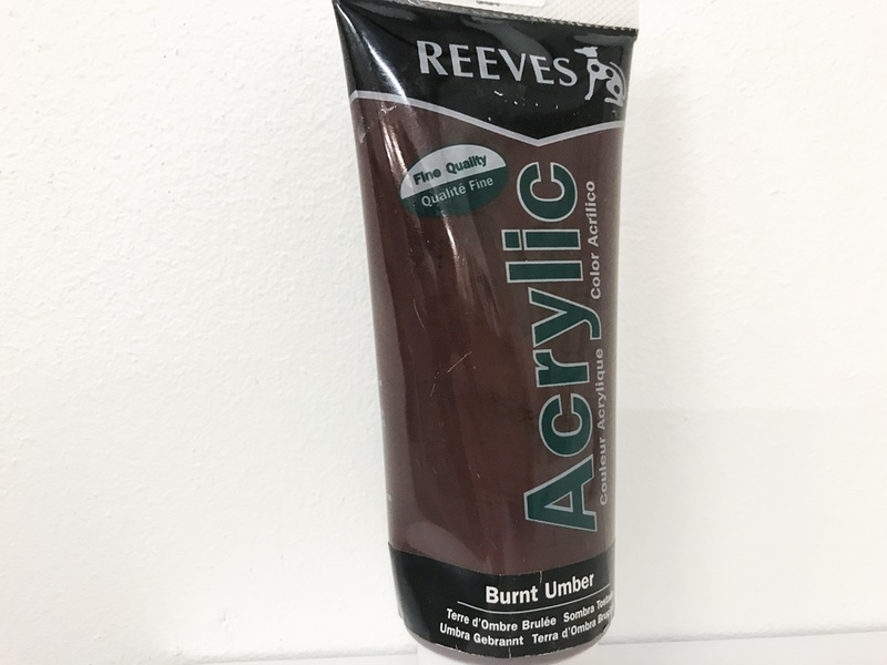 Reeves Acrylic maling Brændt umber