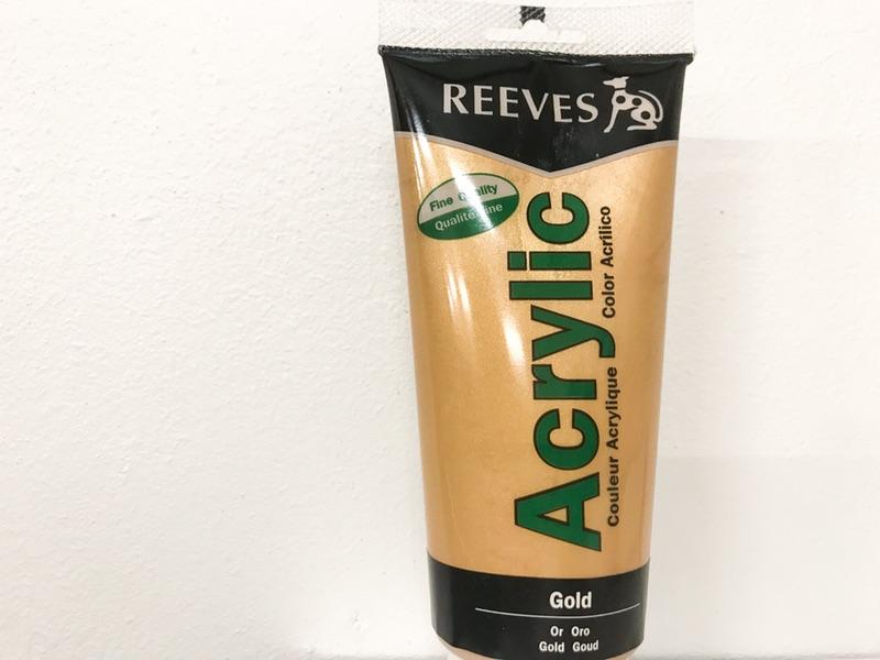 Reeves Acrylic maling Guld