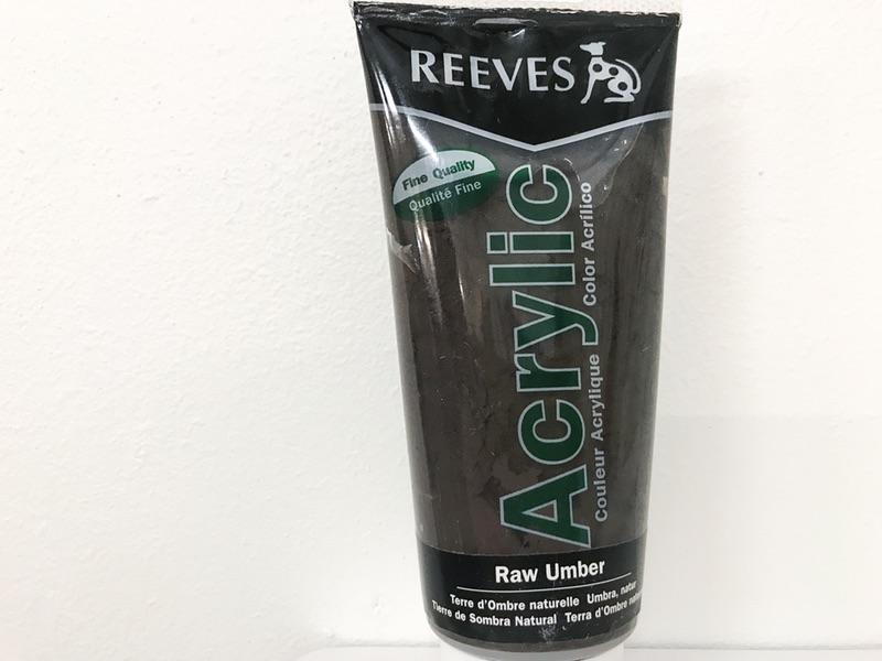 Reeves Acrylic maling Rå umber